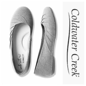 Gray microfiber flats By Coldwater Creek Size 8